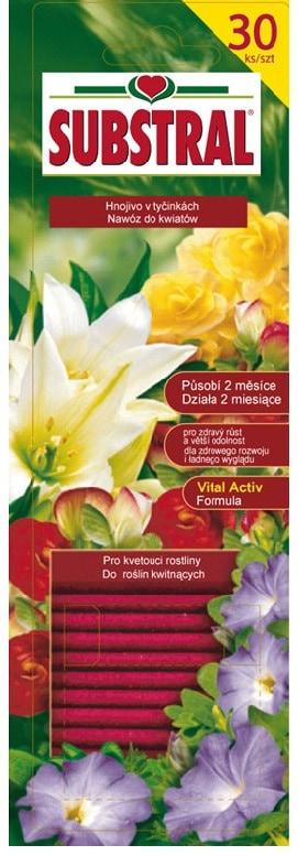 Substral pałeczki do roślin kwitnących 30 szt.-0