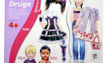 Układanka Magnetyczna Moda Fashion Design-0