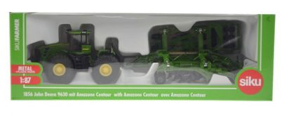 Siku - Traktor John deer z rozrzutnikiem-0