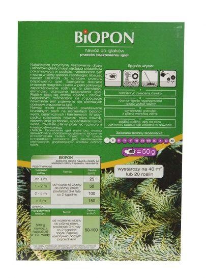 BIOPON - nawóz do iglaków przeciw brązowieniu igieł 1 kg-2627