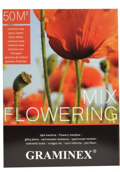 GRAMINEX MIX FLOWERING - Łąka kwietna nasiona traw - 1 kg -0