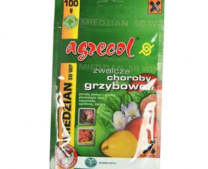 AGRECOL - Miedzian 50 WP - zwalcza choroby grzybowe 100 g-0