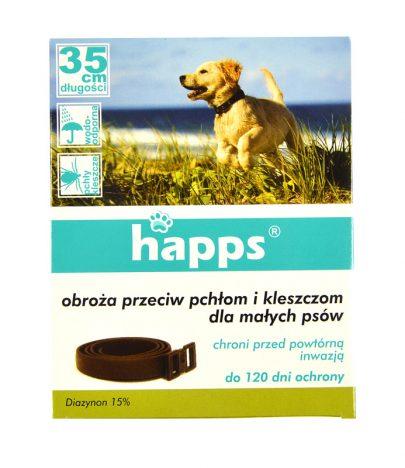 Happs Obroża przeciw pchłom i kleszczom dla małych psów-0
