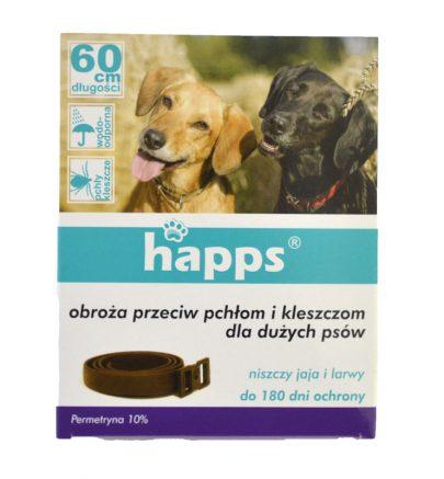 Happs Obroża przeciw pchłom i kleszczom dla dużych psów-0
