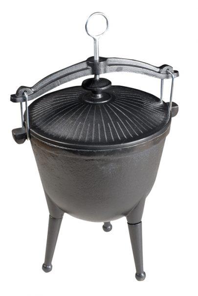 Master grill - Kociołek żeliwny myśliwski -0
