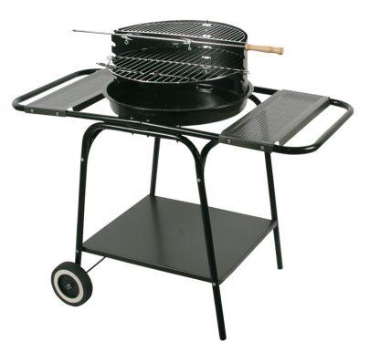 Master grill - Grill okrągły z dwiema bocznymi półkami-0