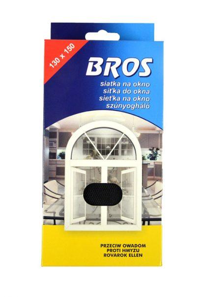 BROS - siatka na okno 130 x 150 - czarna-0