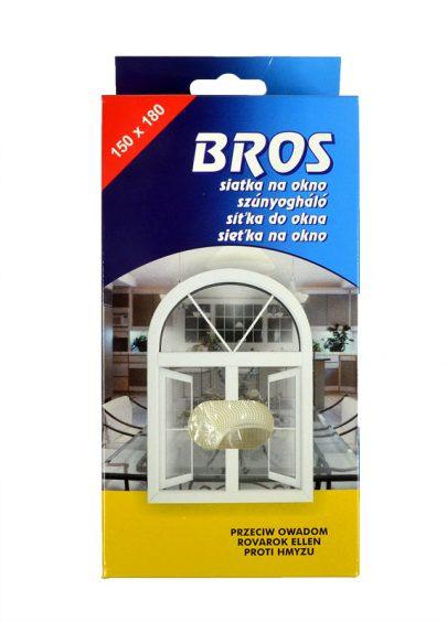 BROS - siatka na okno 150 x 180 - biała-0