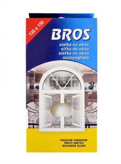 BROS - siatka na okno 130 x 150 - biała-0