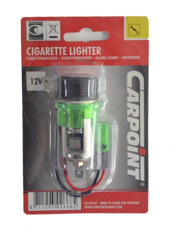 Zapalniczka samochodowa - zielone podświetlenie-0