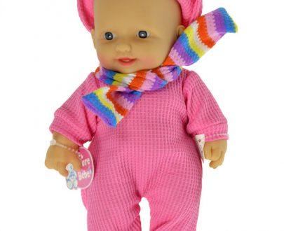 HIPO Lalka w ubranku z szalikiem 25 cm-0