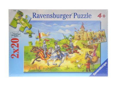 RAVENSBURGER Puzzle 2 x 20 - Rycerze-0