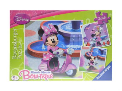 RAVENSBURGER Puzzle Minnie Mouse 3 x 49-0