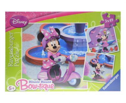 RAVENSBURGER Puzzle Minnie Mouse 3 x 49-0