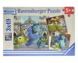 RAVENSBURGER Puzzle 3 x 49 - Uniwersytet Potworny-0