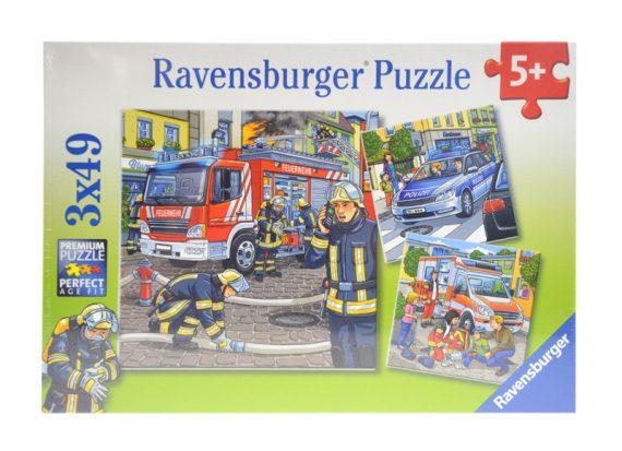 RAVENSBURGER Puzzle 3 x 49 - Akcje ratunkowe-0