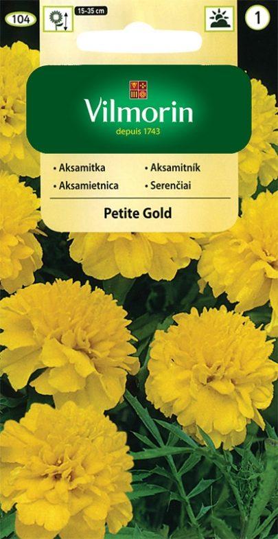 Aksamitka - Petite Gold - Vilmorin-0