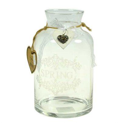 Dekoracyjny szklany słój -0