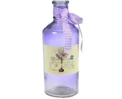 Dekoracyjna szklana butelka-0