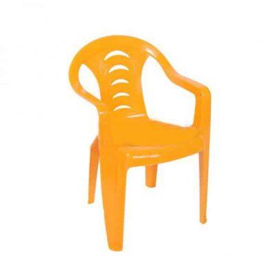 DAJAR - Fotelik plastikowy TOLA - żółty-0