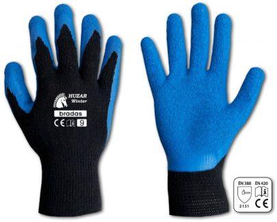 BRADAS - Rękawice ochronne - HUZAR WINTER - lateks rozmiar 9-0