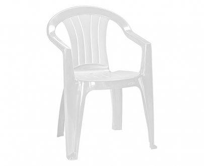 CURVER - Krzesło ogrodowe - SICILIA - kolor biały-0