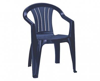 CURVER - Krzesło ogrodowe - SICILIA - kolor niebieski-0