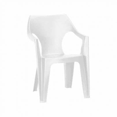 CURVER - Krzesło ogrodowe - Dante Low Back - niskie oparcie - białe-0