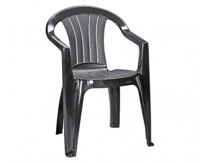 CURVER - Krzesło ogrodowe - SICILIA - kolor antracyt-0