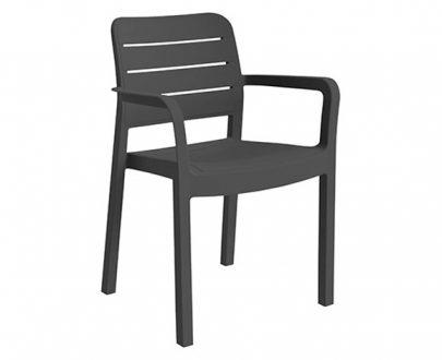 ALLIBERT - Krzesło ogrodowe - Tisara - grafit-0