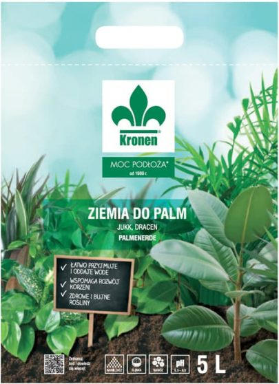 KRONEN - Ziemia do palm,jukk,dracen - 5L-0