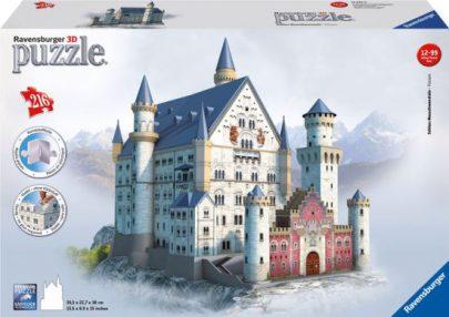 RAVEN - PUZZLE 3D - ZAMEK NEUSCHWANSTEIN - 216 EL.-0