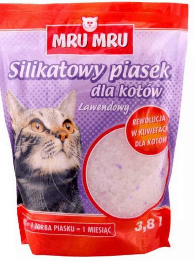 PIASEK ŻWIREK DLA KOTA SILIKATOWY - LAWENDA 3,8L-0