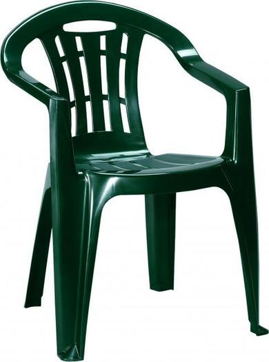 Curver Krzesło Ogrodowe Plastikowe Mallorca Zielone