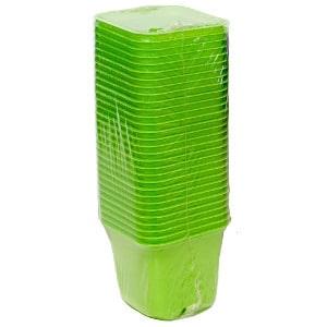 Vefi Doniczki Kwadratowe Zielone 6cm 30szt