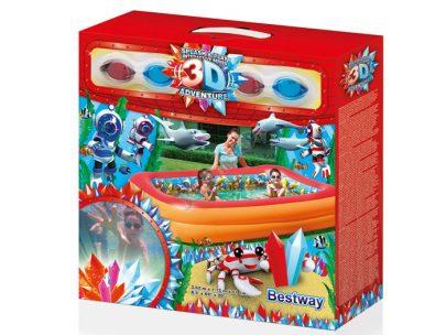 BESTWAY - BASEN NADMUCHIWANY 3D - 262X175X51CM -0