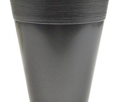 DANTE - DONICZKA PLASTIKOWA - ANTRACYT - 15cm-0