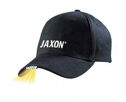 JAXON - CZAPKA Z LATARKĄ W DASZKU - CZARNA -0