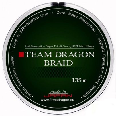 DRAGON - PLECIONKA - TEAM DRAGON BRAID - 0,10mm/135m 7,9kg GREEN -0