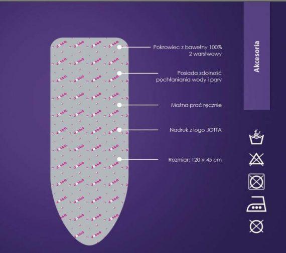 JOTTA - POKROWIEC NA DESKĘ DO PRASOWANIA - 45x120cm-28453