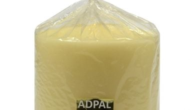 ADPAL - ŚWIECA KLASYCZNA PIEŃKOWA - LAKIER ECRU - 150x150MM-0