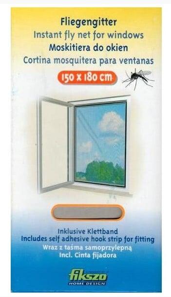 FIKSZO - SIATKA PRZECIW OWADOM - 150x180 CM - CZARNA-0