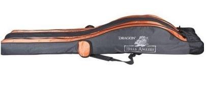 DRAGON - POKROWIEC NA WĘDKI TRÓJKOMOROWY HELLS ANGLERS - 165CM -0