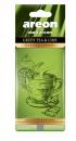 AREON - ODŚWIEŻACZ DO SAMOCHODU LISTEK - GREEN TEA&LIME-0
