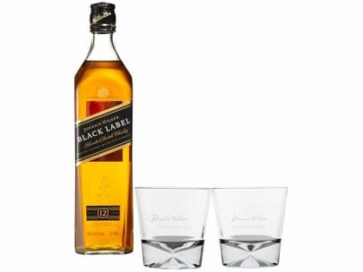 WHISKY - JOHNNIE WALKER - BLACK LABEL - 0,7L + 2 SZKLANKI-0