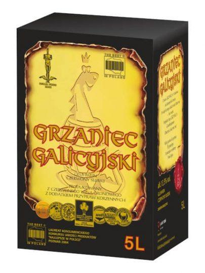 WINO SŁODKIE CZERWONE - GRZANIEC GALICYJSKI - 5L-0
