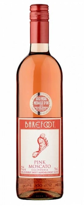 WINO - BAREFOOT PINK MOSCATO - 0,75L-0