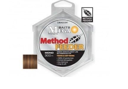 DRAGON - ŻYŁKA MEGA BAITS METHOD FEEDER - 300M / 0,20MM - 4,20KG -0