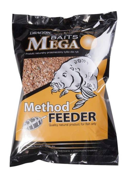 DRAGON - ZANĘTA MEGA BAITS METHOD FEEDER - HALIBUT - 1KG-0